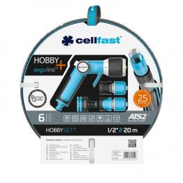 """Поливочный набор HOBBY ATS2™ шланг 1/2"""" 20 м + комплект соединителей ERGO"""